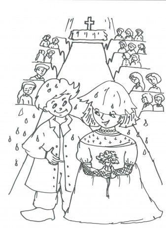 kleurplaat bruiloft met afbeeldingen kleurplaten