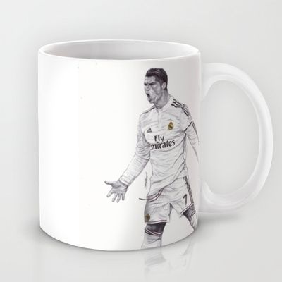 MUG	/ 11 OZ  DeMoose_Art (demoose21) CR7 Drawing by DeMoose_Art $15.00  Size  Free Worldwide Shipping Available Today!