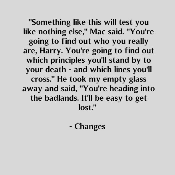 Mac, The Dresden Files, Changes, advice to Harry Dresden