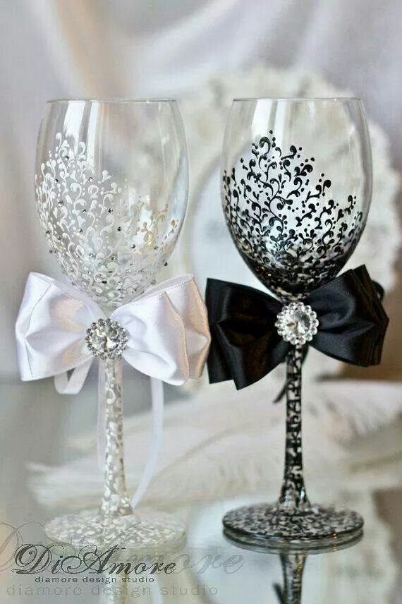 Def mine and cams champagne glasses