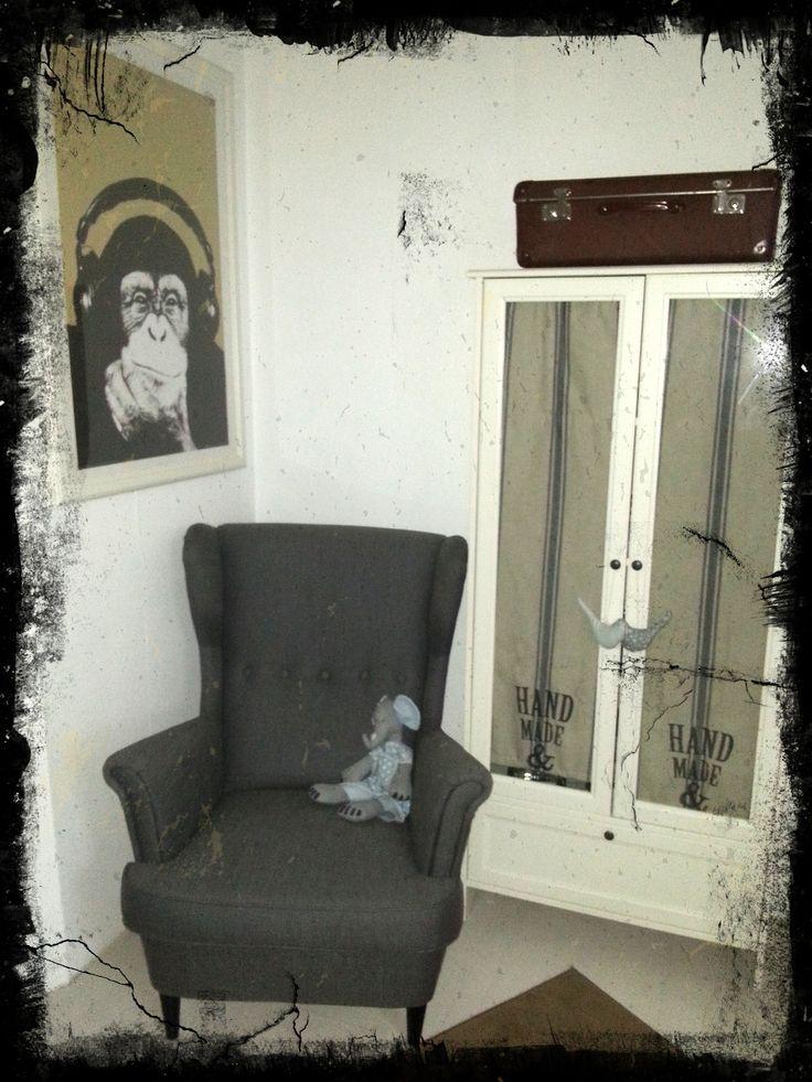 Ikea Sessel im Shabby Stil Ohrensessel