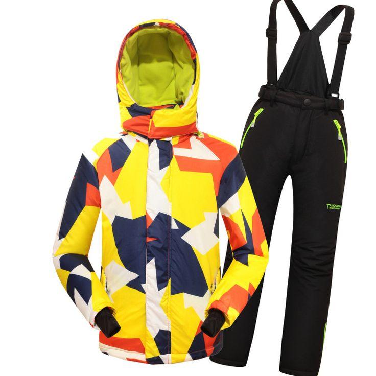 pas cher 2015 nouveaux enfants combinaison de ski pour filles et gar ons hiver coupe vent. Black Bedroom Furniture Sets. Home Design Ideas