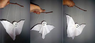 Marionet spookje zelf maken