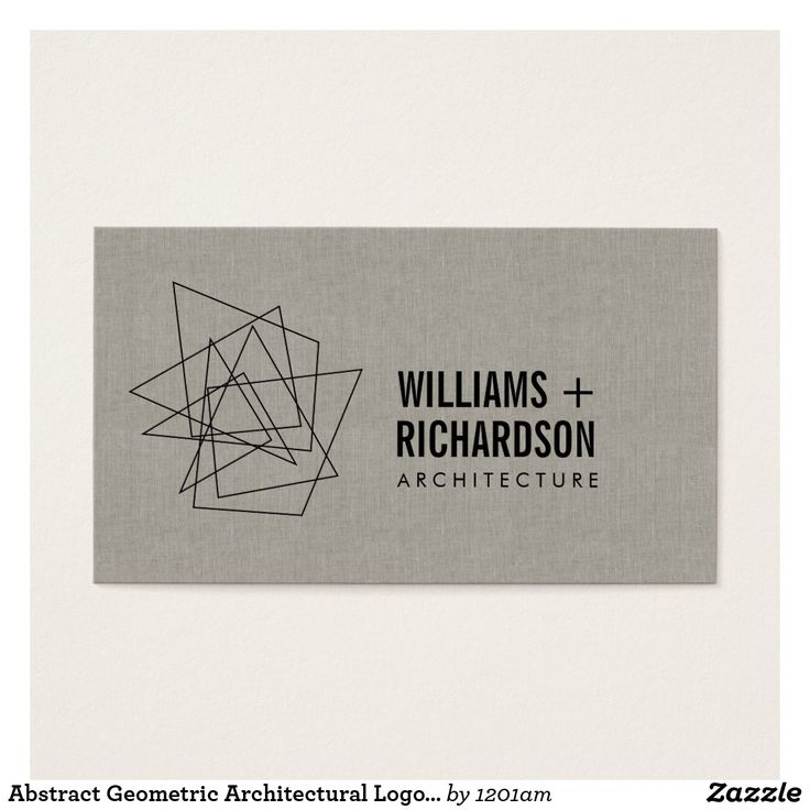 22 best geometric business cards images on pinterest 1st grades abstract geometric architectural logo linenblack business card reheart Gallery