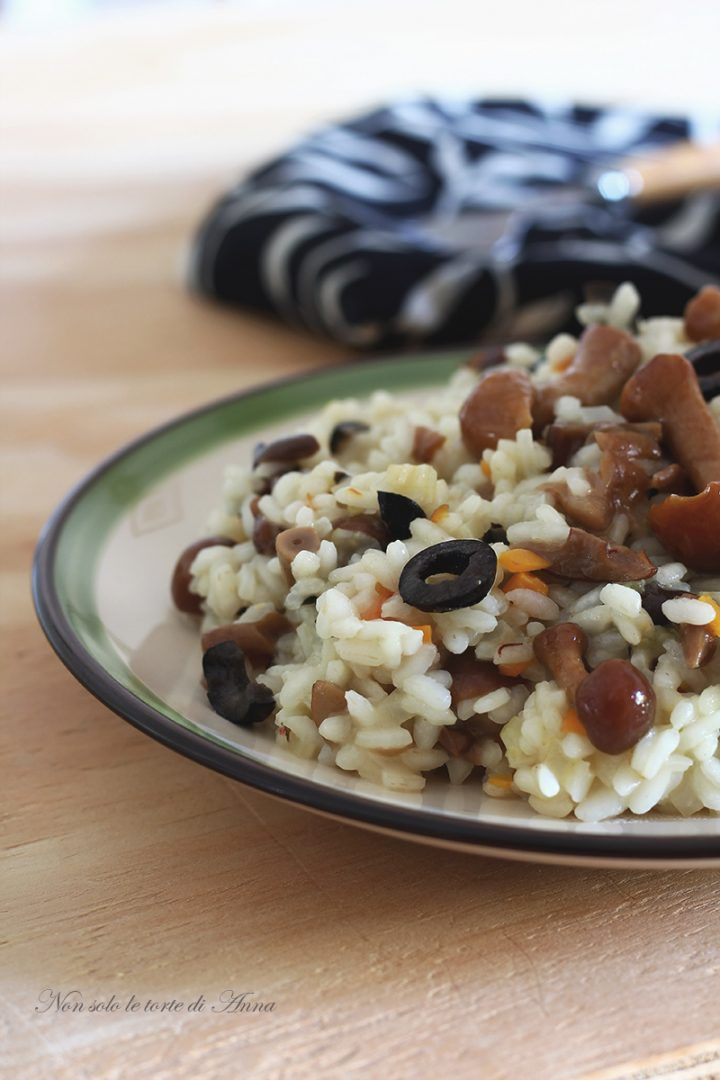Ottimo risotto gustoso e facile, con funghi coltivati oppure freschi in autunno!!