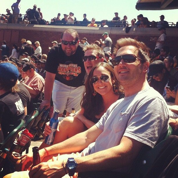 New Relic Sales Team watching the San Francisco Giants: San Francisco Giant