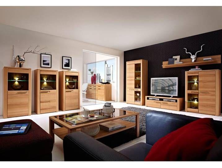 Wohnzimmer Komplett Set Inkl Couchtisch Vitrinen Wohnwand