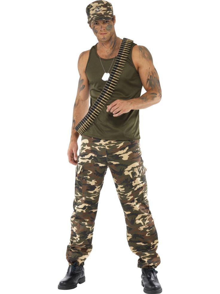 Maastoasu. Maastoasu on jokaisen sotilaan sekä metsässä liikkujan kesäasu ja tietenkin myös mainio naamiaisasu. Asuun kuuluu metsänvihreä hihaton paita sekä maastokuvioiset housut.
