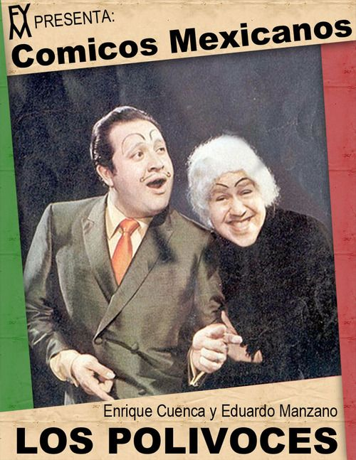 The Polivoces was a very famous and iconic Mexican comedy during the decade of the 70s. It was composed by Enrique Cuenca (born in Mexico City on October 2, 1940 and died on December 29, 2000) and Eduardo Manzano (born July 18, 1938 in Mexico City).