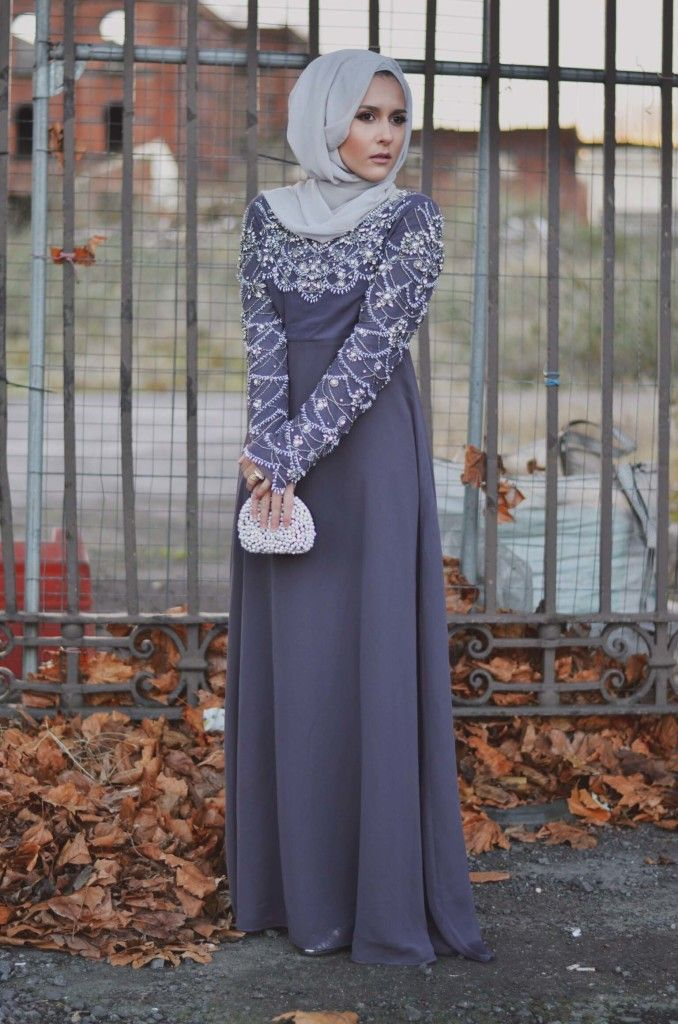 Ultra-Modern Hijab Fashion From UK. look at the sequince on the dress, a beautiful piece for those hijiabis looking to slay at grad