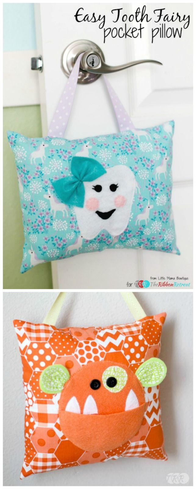 Horse shaped pillows for children - Easy Tooth Fairy Pocket Pillow The Ribbon Retreat Blog
