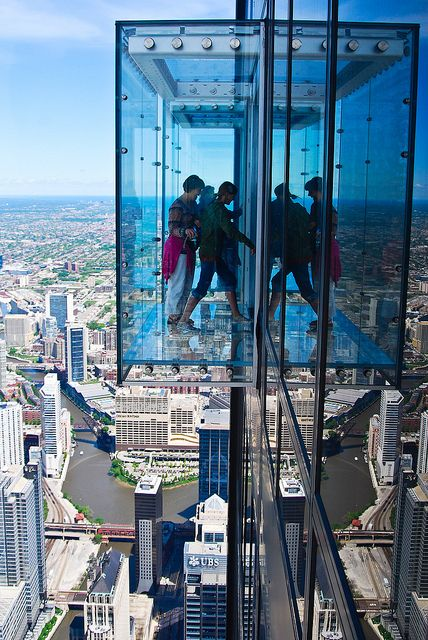 Willis Tower Skydeck - Chicago, IL. I can say I have done this before and freaked out but loved it!!