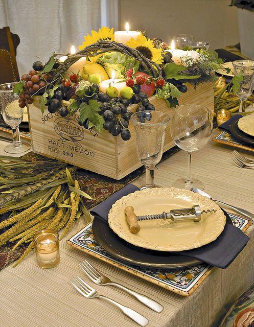 wine theme tablescape......