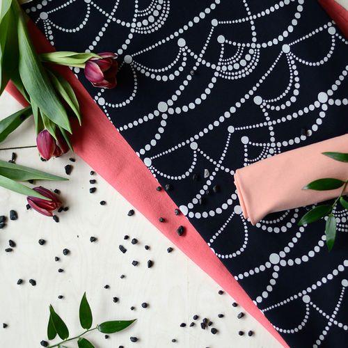 JUHLA, Black  | NOSH Fabrics Spring & Summer 2016 Collection - Shop at en.nosh.fi | Kevään 2016 malliston kankaat saatavilla nyt nosh.fi