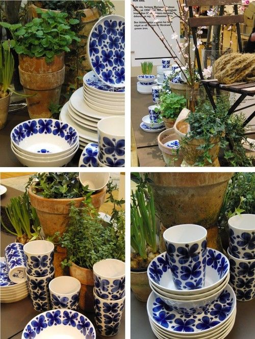 My all time favorite pottery design!  Vintage Swedish pottery:  Mon Amie by Rörstrand