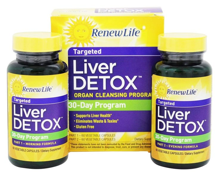 Renew Life - Liver Detox Kit 30-Day Program - 120 Capsules