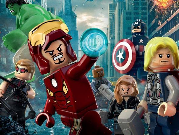 Bonecos LEGO em simulação do pôster do filme Os Vingadores