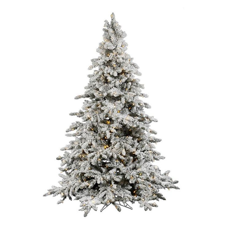 Utica Flocked Pre-Lit Artificial Christmas Tree with LED Lights. Increase  the festivity in your home with a Vickerman Flocked Utica Christmas Tree.