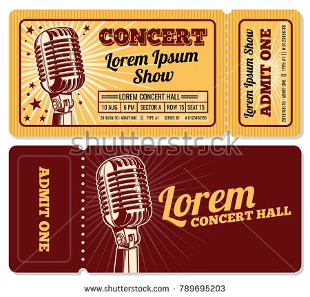 The 25+ best Concert ticket template ideas on Pinterest Ticket - concert tickets design