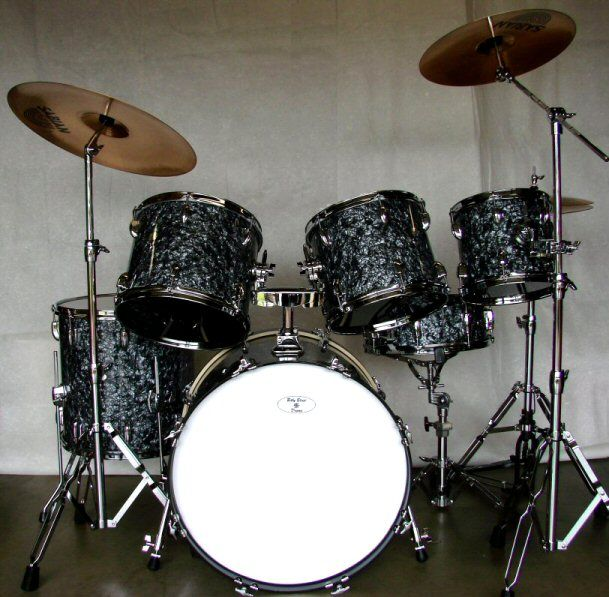Image Detail for - Black Pearl Drum Set