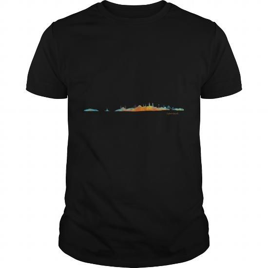 Istanbul cityscape watercolor skyline LIMITED TIME ONLY. ORDER NOW if you like, Item Not Sold Anywhere Else. Amazing for you or gift for your family members and your friends. Thank you! #watercolor #shirts