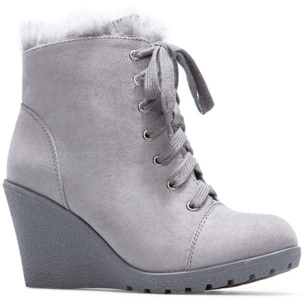 ShoeDazzle Wedge Ananya Womens Gray ❤ liked on Polyvore featuring shoes, grey, wedges, wedge sole shoes, gray shoes, gray wedge shoes, wedge shoes and grey wedge shoes