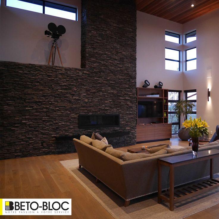 Beto-Bloc vous offre une vaste collection de pierre collée pour créer le foyer de vos rêves / Beto-Bloc offers a wide collection of stone veneer to create the home of your dreams. ST-EUSTACHE 450.239.2562 LAVAL 450.963.2562