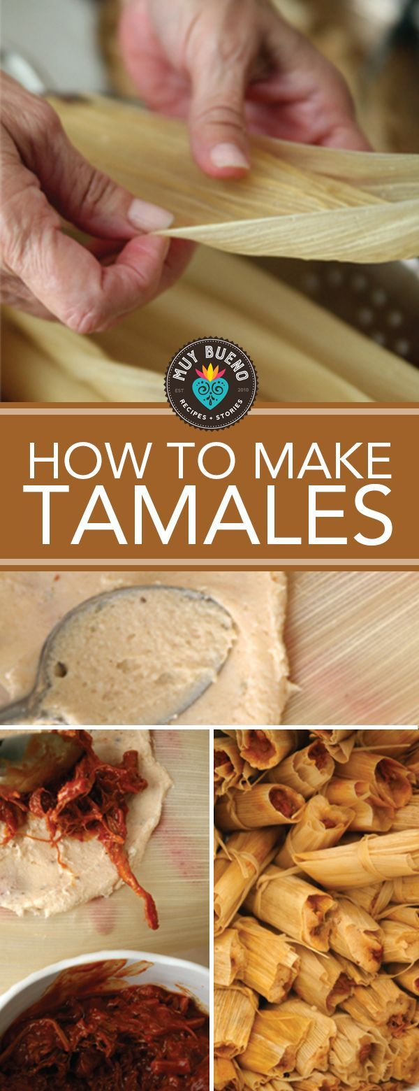 How to Make Tamales + Red Chile and Pork Tamales   I hosted a tamalada (tamal-making party) a couple of weeks ago. We drank champurrado and mimosas, nibbled on chorizo meatballs with pineapple salsa, chocolate truffles, coconut cream fried pies, and a jalapeño bacon cheese ball. Then we filled, wrapped, and steamed tamales with a variety of fillings such as chorizo and red chile and pork just to name a few.