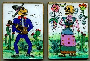 Day of the Dead skeleton folk art