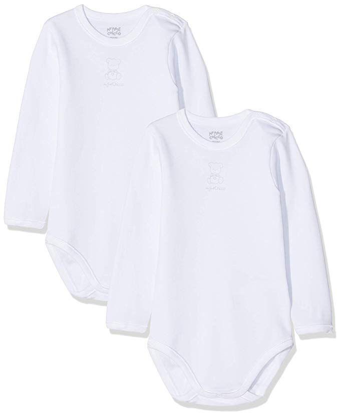 pretty nice 1c950 9a0b7 Chicco Baby Set 2 Body Aperto Spalla Manica Lunga in Caldo ...