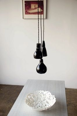 black pendant lights from www.bodieandfou.com