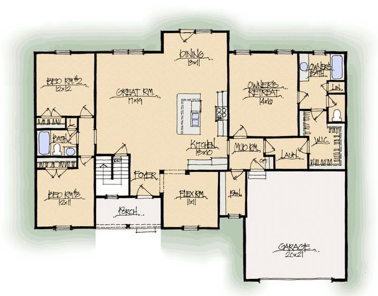 ... Santa Barbara A Midwest Schumacher Homes Floor Plan For Schumacher  Homes House Plans ...
