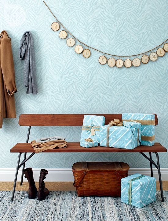 DIY gift wrap: Faux Bois {PHOTO: Ryan Brook/TC Media}