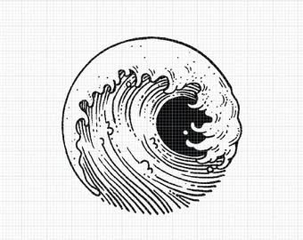 japanese wave tattoo - Google Search