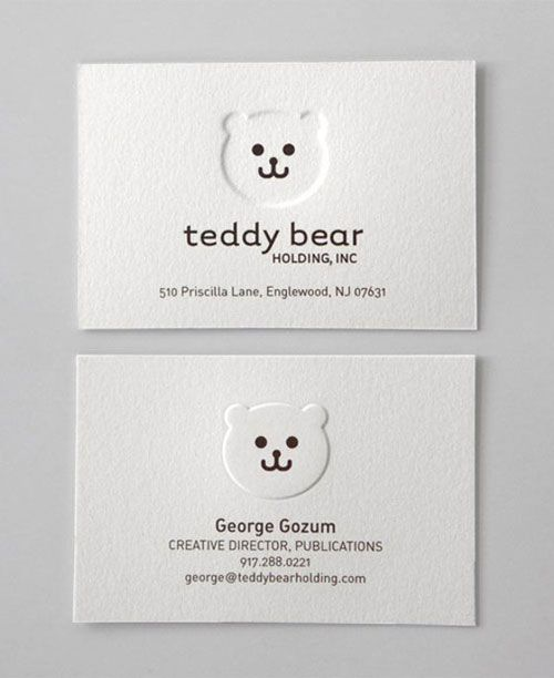 60 Beautiful & Creative Embossed Business Cards