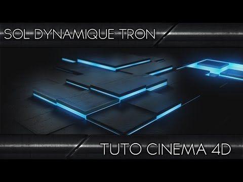 Tutoriel Cinema 4D | Sol dynamique effet TRON ! | Français - YouTube