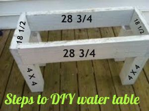 DIY water table!   Just build & add containers for the water  STEPS in POST!!!