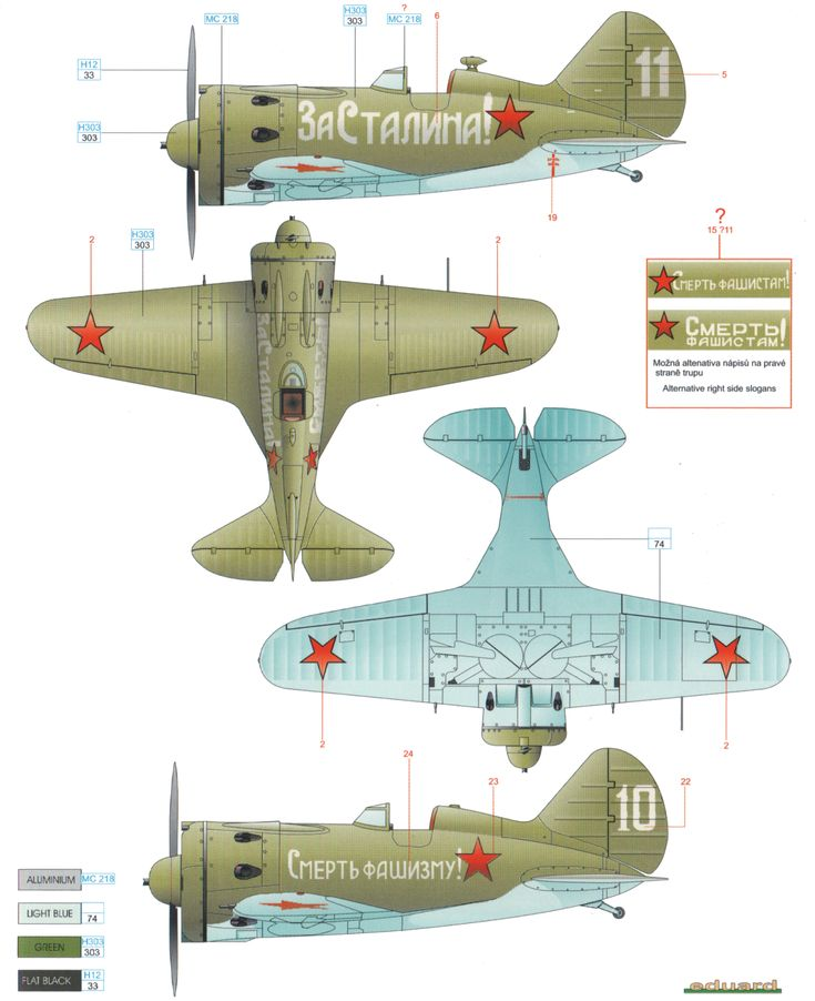 I-16 Type 24 Camouflage Color Profile – Ian Candler