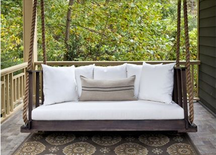 119 best amazing homes images on pinterest bedroom for Cool porch swings