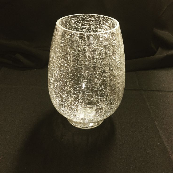 Large crackled glass vase olivia s provided centerpieces