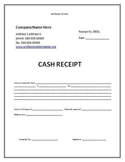 Cash Receipt Template Microsoft Word Ms Word Cash Receipt Sample - microsoft word receipt template free