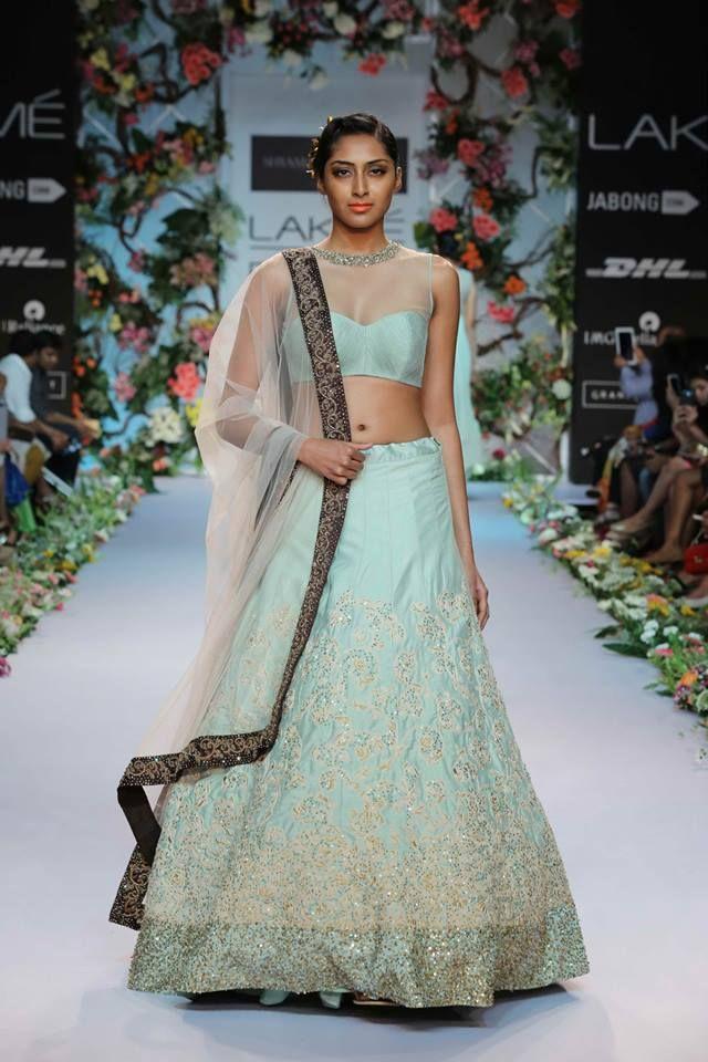 Shyamal & Bhumika lengha. LFW 2014 #lehenga #choli #indian #shaadi #bridal #fashion #style #desi #designer #blouse #wedding #gorgeous #beautiful Available at BIBI London // contact@bibilondon.com