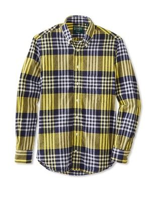 70% OFF Gitman Vintage Men's Plaid Button Down Shirt (Yellow)