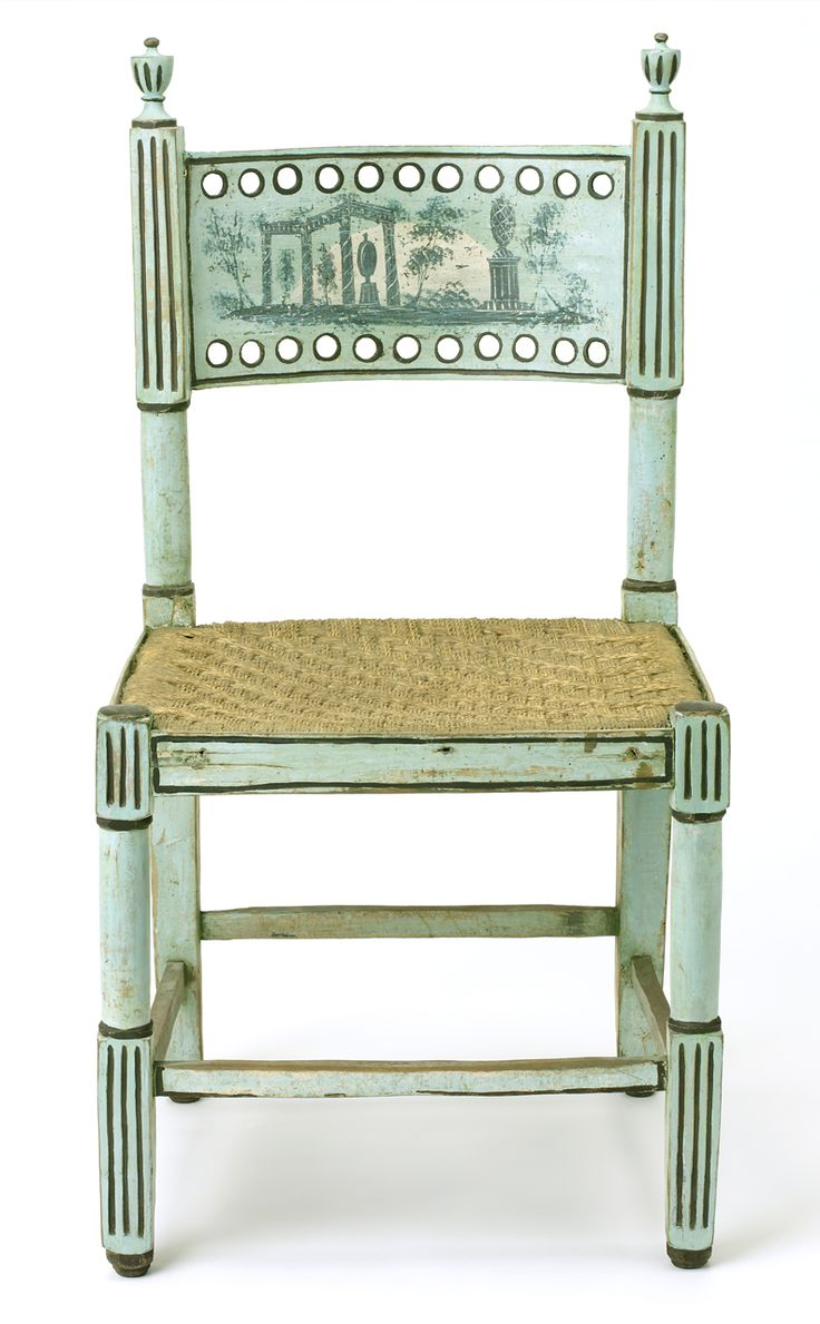 """1775 Chair at the National Maritime Museum, London - From the curators' comments: """"One of a pair of chairs purchased by Nelson in Naples and used as cabin furniture on the 'Foudroyant'."""""""