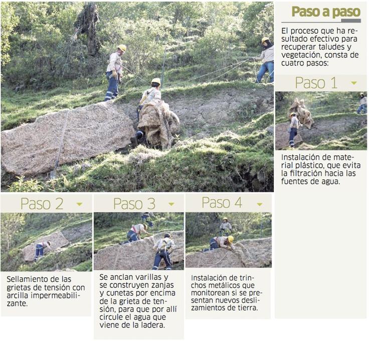 Ingenio regional al servicio del medio ambiente. Recuperación de taludes en La Colosa Facebook/AGAColombia