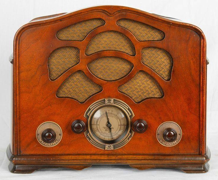 1935 Emerson Model 38 Wood Radio Vintage Wood Radios