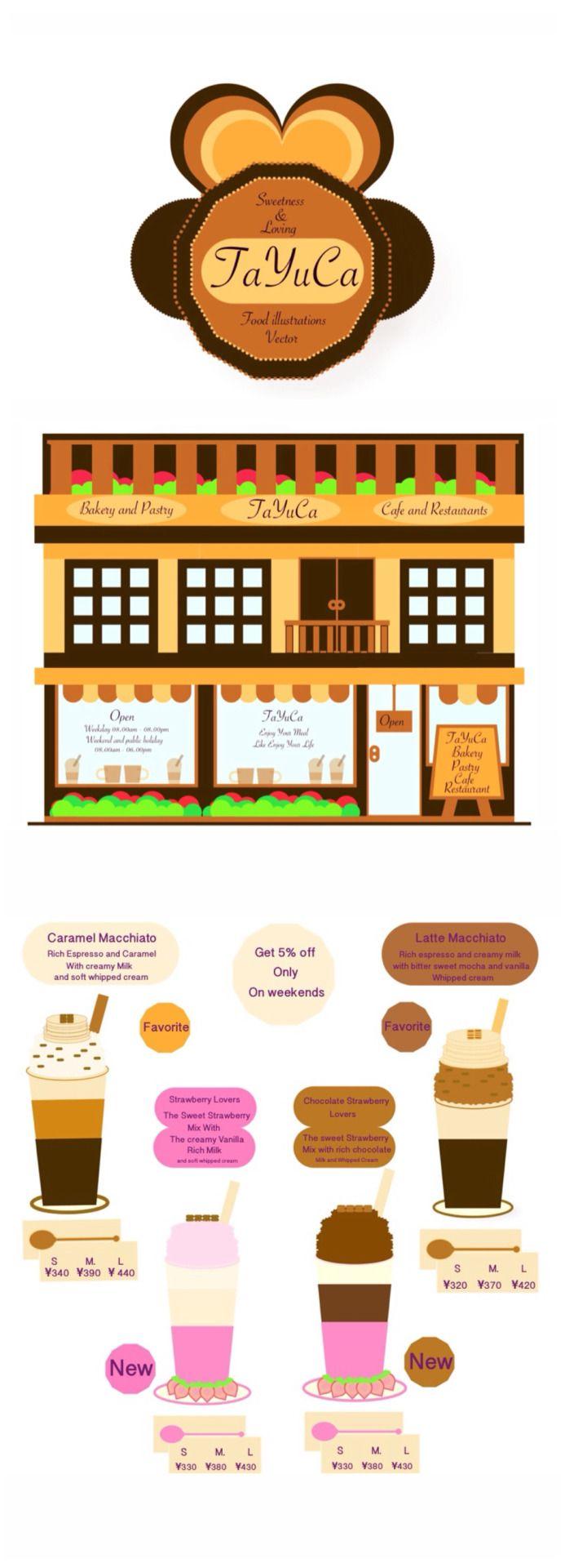 TaYuCa Vector Food Illustrations — Here we go✌️ new menu and favorite weekday