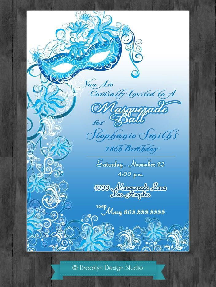 17 Best images about Ideas for a Sweet 16 Masquerade Party on – 16th Party Invitation Templates