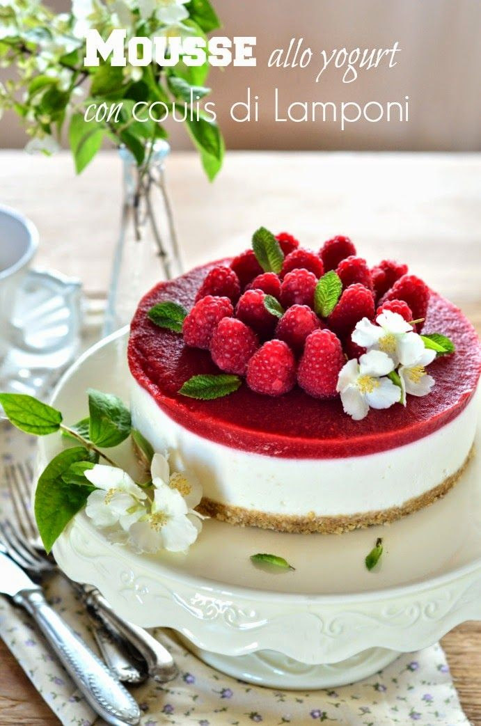 La Cucina Scacciapensieri: Mousse alla yogurt con coulis di lamponi