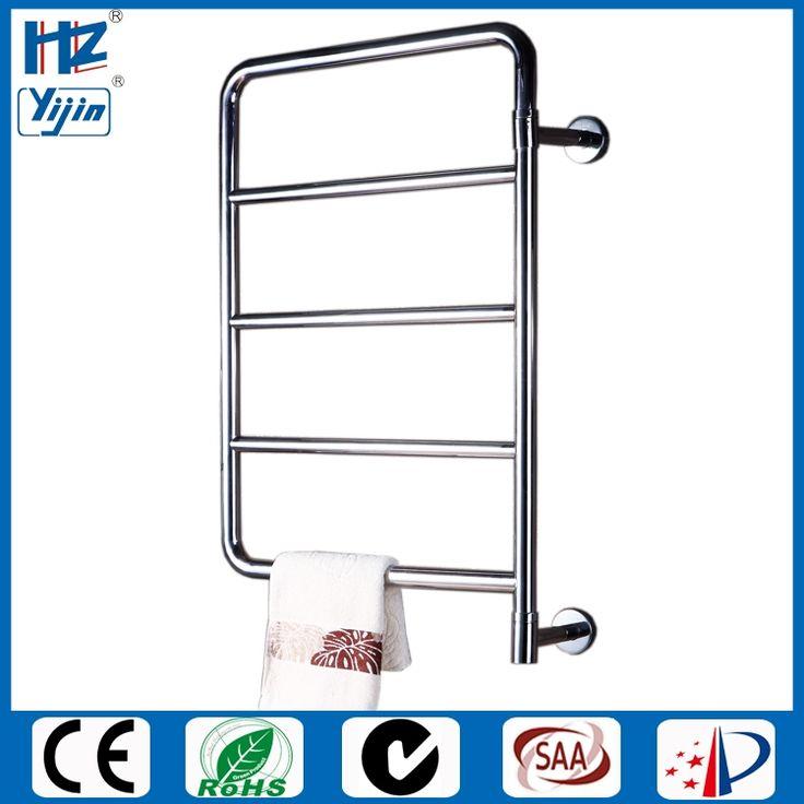 stainless steel bathroom accessory swing heated towel warmer electric towel rail radiator  901